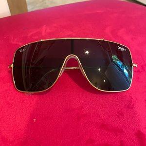 RAY BAN WING 2 aviator shield sunglasses